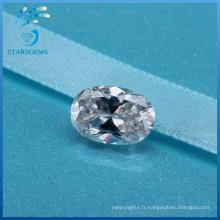 4X6mm 0.5 Carat ovale Cut haute qualité synthétique blanc Moissanite Diamond pour les anneaux