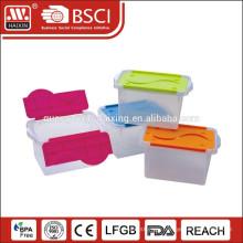 Clear decorative plastic storage makeup organizer