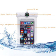 Bolso de la prenda impermeable del salto del teléfono móvil de ABS + PVC con diseño del compás