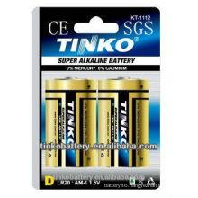 hot product lr20 alkaline battery 1.5v size D lr20