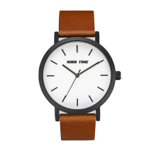Colorful leather band 316L brand quartz watches