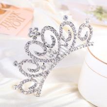 Pente elegante do cabelo da tiara do Rhinestone da coroa para o casamento