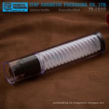 ZB-LQ40 40ml delgado y alto caliente-venta especial de las capas dobles todo hermoso plástico como material claro airless botella