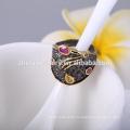 Antiker Schmuck Ringe Frauen Fingerringe mit schwarzen Vergoldung Ringe Schmuck