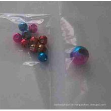 Irisierende Tungsten geschlitzte Perlen mit Loch