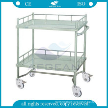 AG-SS042A CE quality material dental clinic cart stainless steel treatment trolley