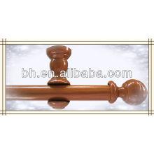 Smooth Walnut Wood 8-foot Drapery Pole Set