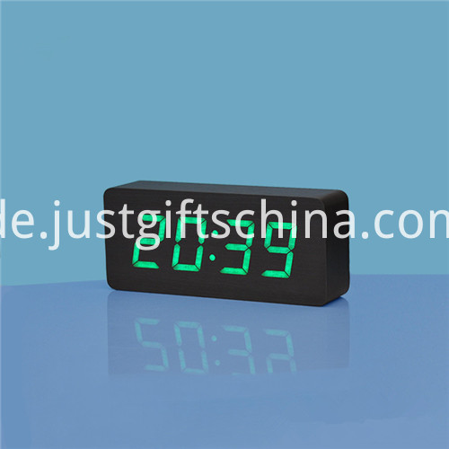 Promotional Logo Printed Rectangle Wooden Clock 1