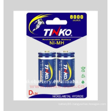 TINKO NI-MH rechargeable battery Size D 10000 mah