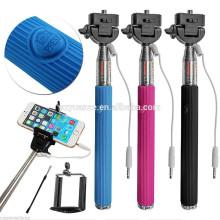 Top ventes Prix usine en gros en stock selfie bâton avec câble, câble take pole selfie stick, Z07-5S
