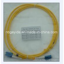 3.0 LC-LC Sm Duplex cable de fibra óptica de remiendo