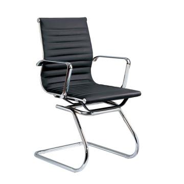 Oficina de metal de cuero Hotel Arm Lowgettingfore invitado silla (E13)