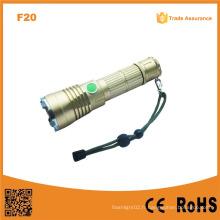 F20 la plus haute puissance de la LED militaire tactique rechargeable Xml LED Swat lampe de poche