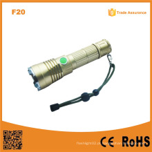 F20 melhor poderoso LED militar tático recarregável Xml LED Swat lanterna
