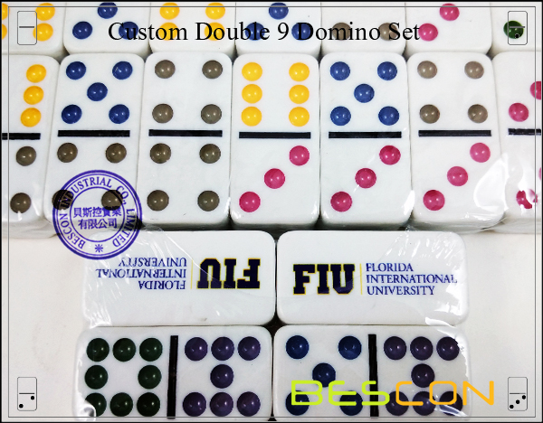 Custom Double 9 Domino Set-3