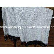 Woven Herringbone Pure Cotton Blanket ()