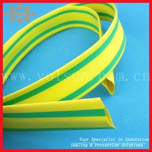 желто-зеленая термоусадочная трубка желтый и зеленый полосатый Термоусадочные трубки