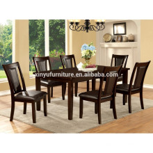 Chinese style solid wood dining table and chair set XYN1483