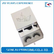 Chine continentale faible coût personnalisé impression somptueux clair fenêtre emballage boîte à cils