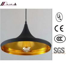 Simple Antique Matt Black Single-Head Aluminum Pendant Lamp