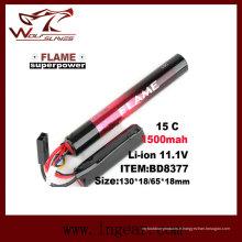Tactical Airsoft 11.1V-batterie de 1500 LiFePO4 LFP 15C