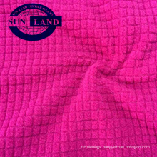 long sleeve shirt autumn hoodie cloth 100% polyester dropneedle waffle  look brushed polar fleece