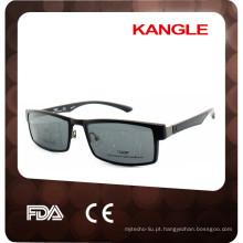 Clip de estilo novo 2017 em quadros ópticos, clip de material TR90 confortável em óculos de sol