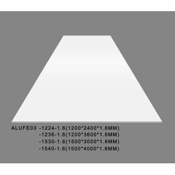 Hoja de aluminio blanco brillante