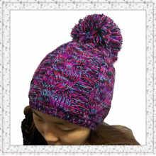 Custom Design Jacquard Weave Crochet Knitted Beanie Cap/Hat (1-3461)