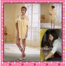 Astergarden Nouvelle conception Emma Roberts style perlé mousseline mini-robe AS032-2