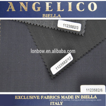 100% Made In Italy Brand ANGELICO Worsted twill wool fabric for suit
