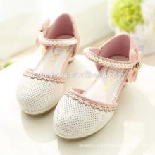 Новые 2015 Весна Дети Симпатичные плоские туфли девушки Принцесса обувь с луком Дети Кожа PU Одноместный обувь