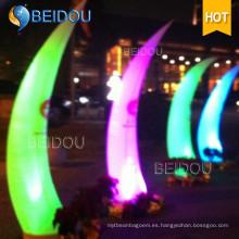 Decoración Conos inflables encendidos Colgante de marfil Columna LED Tubo de arco
