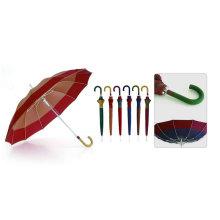 12 Ribs Fiberglass Automatic Border Windproof Umbrella (YS-SM25123512R)