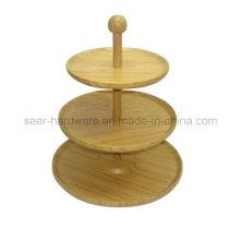 Três Layer Ornament Bamboo Snack Plate (SE060)