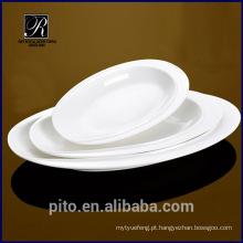 PT-1357 cerâmica prato oval profunda placa