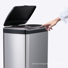 50L stainless steel trash can touchless motion sensor trash can 13 gallons rubbish bin with sensor