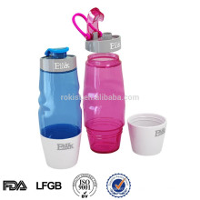 Garrafas de água de esporte plástico sem BPA com tampa flip top 600ML