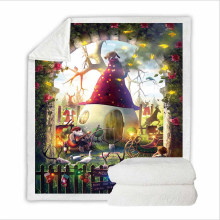 Super Soft Sweatshirt Cover Blanket Bedding Set Queen Size with 3D Digital Printing for Merry Christmas