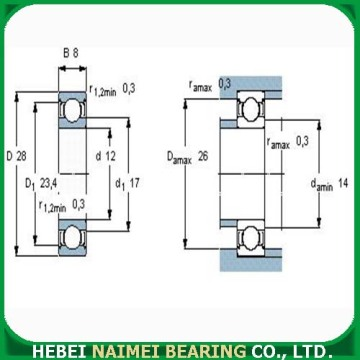 High Speed ​​Deep Groove Ball Bearing 6001