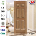 Six Panels Bathroom Chinese Teak Door Skin