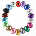 10x14mm Oval coser Acryl Diamante