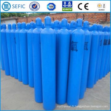 Cylindre utilisé industriel sans couture de gaz d'oxygène de la haute pression 40L (ISO9809-3)