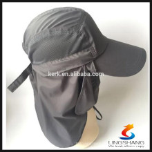 grey Blank Bucket sun Hats With Veil and Cloak Camping face mask Fishing Cap BONNIE HATS