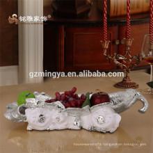 China Supplier High Quality OEM figurine resin crafts Handmade crafts custom resin fruit plate figurine