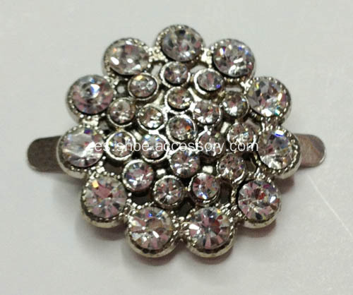 3mm zapato de flores brillantes clips