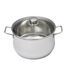 Cozinhar em aço inoxidável doméstico.