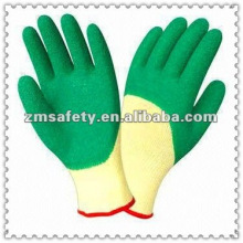 3/4 Green wrinkle latex safety glovesJRE46