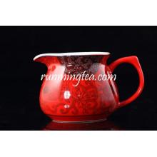 Porcelana vermelha chinesa Infuser Pitcher