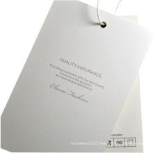 Factory Custom Natural Paper Clothing Hangtags with Swing